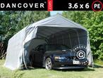 Portable Garage PRO 3.6x6x2.68 m PE, Grey