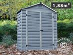 Polycarbonate Garden Shed, SkyLight, 1.84x0.90x2.17 m, Anthracite