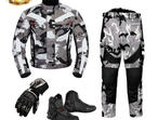 (Camo Grey) 6 Packs Design Suit - Jacket + Trouser + Gloves + Boots (Short)