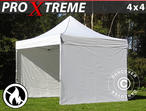Pop up gazebo FleXtents Xtreme 4x4 m White, Flame retardant, incl. 4 sidewalls