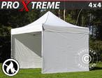 Pop up gazebo FleXtents Xtreme 4x4 m White, Flame retardant, incl. 4 sidewalls