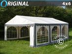 Marquee Original 4x6 m PVC, Grey/White