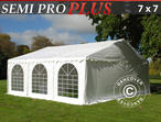 Marquee SEMI PRO Plus 7x7 m PVC, White