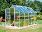 Greenhouse Polycarbonate Halls Popular 6.2m, 1.93x3.19x1.95 m, Aluminium