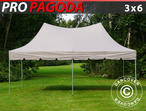 Pop up gazebo FleXtents PRO Peak Pagoda 3x6 m Latte