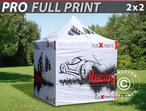 Pop up gazebo FleXtents PRO with full digital print, 2x2 m, incl. 4 sidewalls