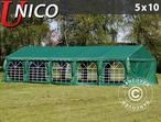 Marquee UNICO 5x10 m, Dark Green