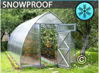 Greenhouse Polycarbonate, Arrow 15,6 m, 2,6x6 m, Silver