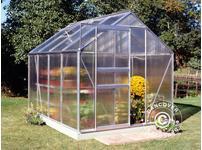 Greenhouse Polycarbonate Halls Popular 5m, 1.93x2.57x1.95 m, Aluminium