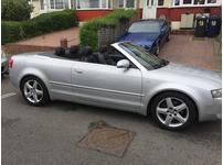Audi A4 SPORT, 2004 (04) Silver Convertible, Multitronic Petrol, 103,000 miles