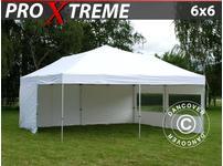 Pop up gazebo FleXtents Xtreme 6x6 m White, incl. 8 sidewalls