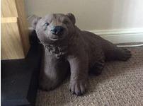 Concrete bear garden ornament