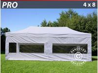 Pop up gazebo FleXtents PRO 4x8 m White, incl. 6 sidewalls