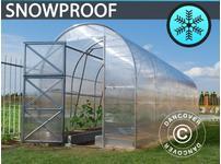 Greenhouse Polycarbonate, Duo 12 m, 2x6 m, Silver