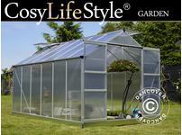 Greenhouse Polycarbonate 9.13m, 2.48x3.68x2.26m, Aluminium