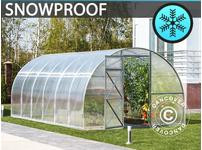 Greenhouse Polycarbonate, Strong 12 m, 3x4 m, Silver