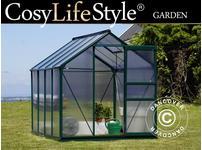 Greenhouse Polycarbonate 4.78m, 1.9x2.52x2.01 m, Green