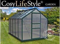 Greenhouse Polycarbonate 5.92m, 1.9x3.12x2.01 m, Green