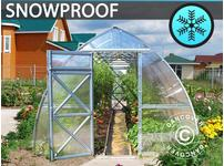 Greenhouse Polycarbonate, Arrow 18 m, 3x6 m, m, Silver