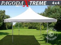 Pop up gazebo FleXtents Pagoda Xtreme 4x4 m / (5x5 m) White