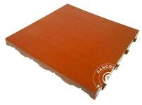Plastic flooring Basic, Piastrella, Terracotta red, 18.72 m
