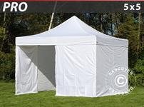 Pop up gazebo FleXtents PRO 5x5 m White, incl. 4 sidewalls