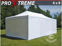 Pop up gazebo FleXtents Xtreme 4x8 m White, incl. 6 sidewalls