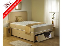COMPLETE DOUBLE BED WHITE ROSE MEMORY POCKET (1500) - SPECIAL OFFER