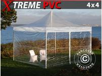 Pop up gazebo FleXtents Xtreme 4x4 m Clear, incl. 4 sidewalls