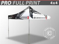 Pop up gazebo FleXtents PRO with full digital print, 4x4 m