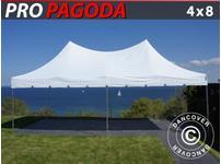 Pop up gazebo FleXtents PRO Peak Pagoda 4x8 m White