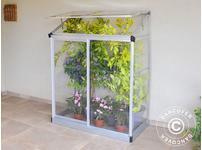 Lean to Greenhouse Polycarbonate 0.78m, 0.63x1.25x1.60 m Silver