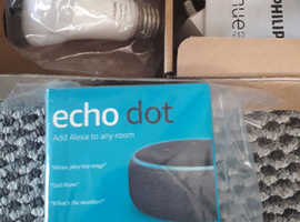 Brand new Echo dot with changing colour lights