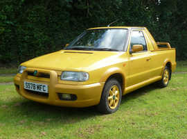 Skoda Felicia Fun, rare limited edition pickup 1998, converts from 2 to 4  seats and comes with hard top hard top