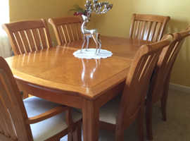 Surprising Dining Table With 6 Chairs Dresser And Mirror Download Free Architecture Designs Embacsunscenecom