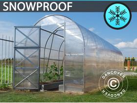 Greenhouse Polycarbonate, Duo 12 m, 2x6 m, Silver 671 - City of London - Greenhouse Polycarbonate, Duo 12 m, 2x6 m, Silver Product specifications: Width:2,00 m. Length:6,00 m. Height:2,20 m. Door:0,80x1,84 m Material:Polycarbonate Frame:Galvanised steel tubes Snow load:240 kg/m Tubes / fittings:44x15 mm Roof p - City of London