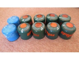 Camping Gaz/EPIgas C200 gas canisters 3 - Chelmsford - Camping Gaz/EPIgas C200 190g butane gas canisters for portable gas stoves/lights etc. Twelve available. Price stated is per canister. - Chelmsford