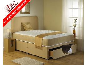 COMPLETE DOUBLE BED WHITE ROSE MEMORY POCKET (1500) - SPECIAL OFFER 289 - Sheffield - BRAND NEW DIRECT FROM THE FACTORY.( PLEASE NOTE THE OFFER OF THIS BED IS WITHOUT THE DRAWER,YOU CAN HAVE DRAWERS AT EXTRA COST. ) Please contact us for further details; more information and pictures can be emailed directly to you on request. T - Sheffield
