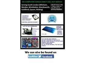 Computer Repair Call Out Service - Merton - Computer Repair and IT Consultant call out services providing solutions to your everyday computer needs from removing stubbon Computer Viruses hiding away inside the Windows Registry to Speeding up your hard drive, getting rid of unwanted clutter - Merton