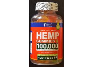 BEAR SHAPE HEMP CBD GUMMIES (ZERO THC!!) 120 PER JAR