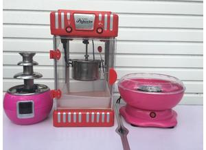 Childrens entertainer popcorn maker machine candy floss chocolate fountain entertainment Southampton