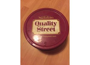 Vintage quality street tin