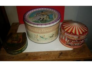Collectable vintage tins