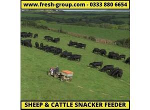 Sheep snacker. ATV sheep snacker/cattle feeder. Livestock feeder with digital feed counter.