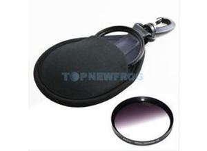 2-Pocket Wallet Case Bag Pouch Cover Protector Compatible for 49-77mm Lens Filters