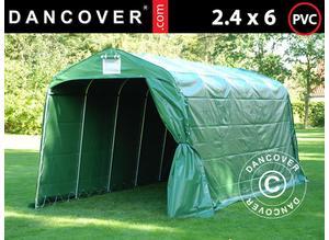 Storage tent PRO 2.4x6x2.34 m PVC, Green