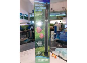 BNIB 200W Aquarium Heater