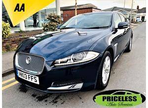 Jaguar Xf, 2013 (13) Blue Estate, Automatic Diesel, 47,618 miles