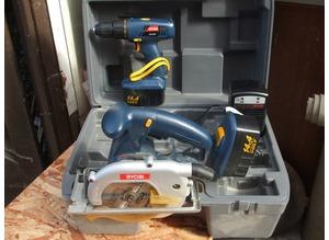 Ryobi saw & drill combi set