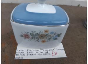 """Royal Doulton """"Pastorale"""" Pattern Sugar Bowl"""
